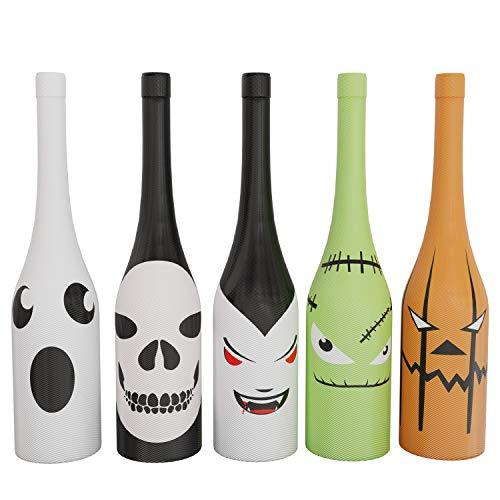 Urlaub Gear Halloween Wein Flasche Covers & Dekorationen ~ Einzigartigen Urlaub Wein Decor ~ Set von 5Halloween Flasche Wein Covers (Wein-flaschen-dekoration Halloween Für)