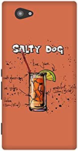 The Racoon Grip Grapefruit Salty Dog hard plastic printed back case / cover for Sony Xperia M2