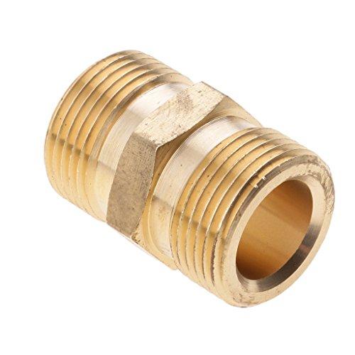 Fenteer Messing Schnellwascher Schnellkupplung Male M22x1.5 Socket Schnellkuppler zum Waschen - 14mm (Waschen Ca)