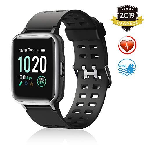 FITFORT Smartwatch,Fitness Watch Uhr Voller Touch Screen