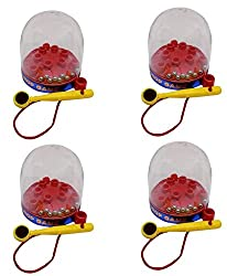 AASA Magnet Drop Ball Game for Kids Brain Development, Multicolour, Red, 4 Pcs, Pack of 1