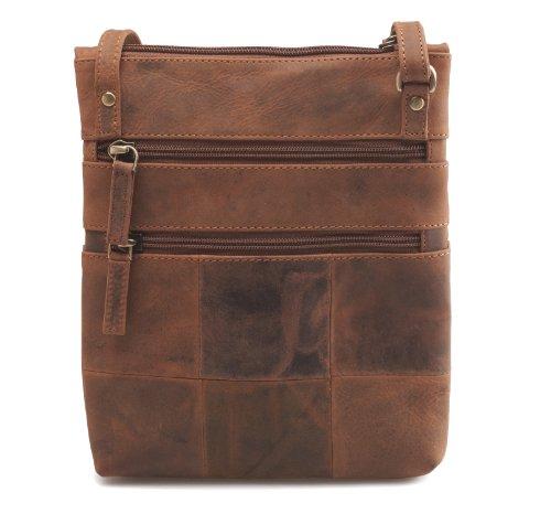 Visconti cuir véritable Petit sac bandoulière/sac#18606
