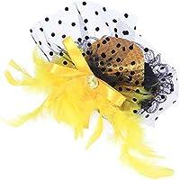 BESTOYARD Sombreros de Plumas de Chicas para Mujeres con Clips Sombrero de  Fiesta para la Cabeza 4c1ac4074cb
