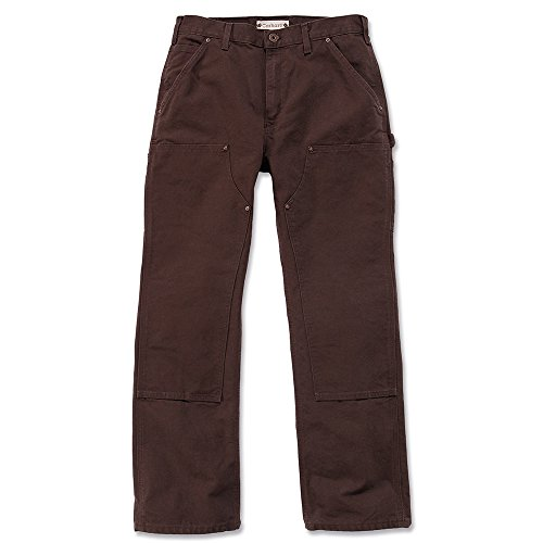 Carhartt Workwear Hose Washed Duck Work Dungaree EB136 Arbeitshose, dunkelbraun Gr. 42/32, EB136 (Material Duck Cotton 100%)