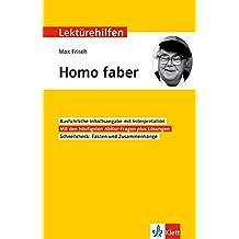 Klett Lektürehilfen Max Frisch, Homo faber: Interpretationshilfe für Oberstufe und Abitur