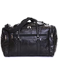 Slimbridge Madrid bolsa de viaje de cuero, Negro