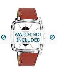 Dolce & Gabbana correa de reloj DW0105 Cuero Naranja + costura naranja(Sólo reloj correa - RELOJ NO INCLUIDO!)