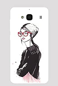 Back Cover for Redmi 2 Prime Lady