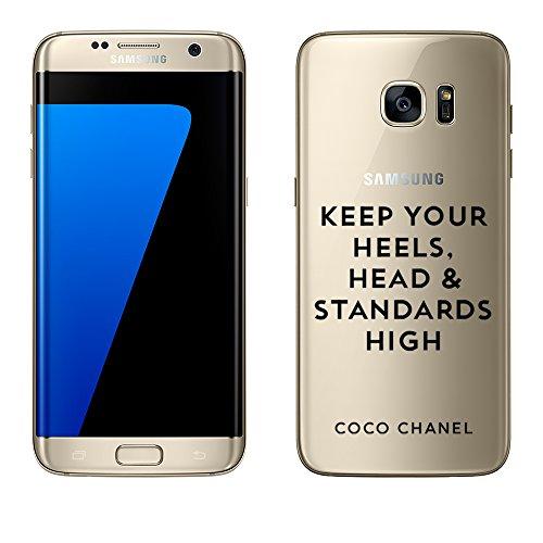 Mobile-edge-pink Handtasche (Samsung Galaxy S7 Edge Hülle von licaso® aus TPU schützt Dein S7 Edge 5,5