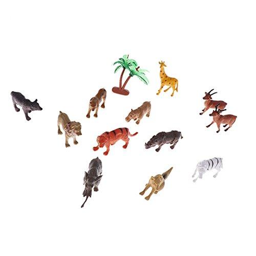 Sharplace Ornamento de Patio Frontones Decorativos Dosificadores de aliño Especias Juguetes de Niños - Fauna silvestre