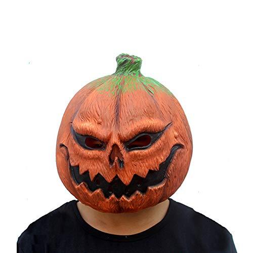 JOLG Hölle Kürbis-Creepy Party Neuheit Horror Masken,Halloween-Kostüm-Party Latex Masken, Geeignet Perfekt Für Halloween, Kostüm-Partys, Themen-Partys Etc.Unisex Einheitsgröße