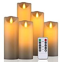 Candela con effetto fiamma reale Queste candele danzanti sono molto realistiche e quasi indistinguibili dalle tradizionali candele accese.  La tecnologia di simulazione della fiamma rende la candela luccicante come un aquilone, portando l'esp...