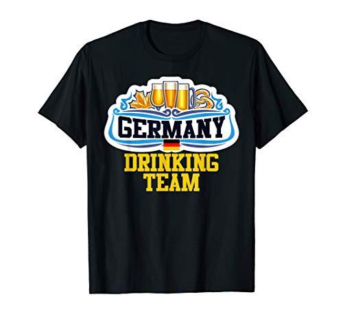 Beer Drinking T-shirt (Germany Drinking Beer Team Oktoberfest German Beer Tee T-Shirt)