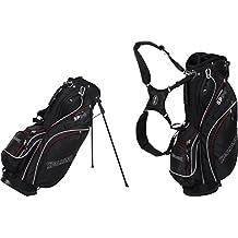 Spalding Stand - Bolsa con trípode para palos de golf, color negro, talla 9-pulgadas