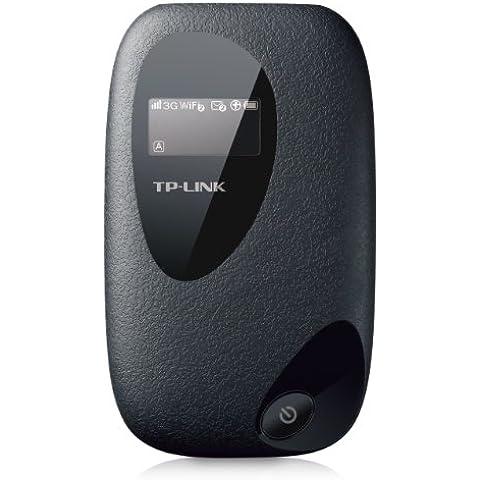 TP-LINK M5350 - Router de alta velocidad 3G WiFi (Punto de acceso Wi-Fi Móvil, pantalla de LED, alta velocidad, duración de hasta 7 horas, HSPA+)