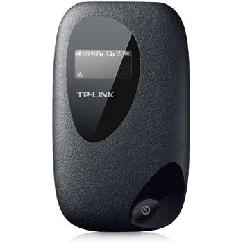 TP-Link M5350 WLAN-Router (Mobiler WiFi Hotspot, integriertes 3G/UMTS-Modem mit bis zu 21,6 Mbit/s, Wireless-N-Standard (IEEE 802.11n), SIM-Kartensteckplatz, OLED-Display, microSD-Kartenslot) schwarz