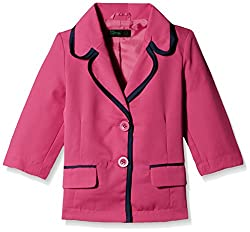 United Colors of Benetton Girls Casual Jacket (15A2ABCH12S2I06U_Very Berry Blue_M)