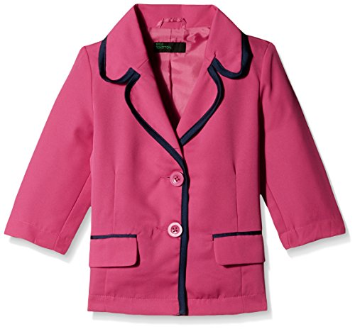 United Colors of Benetton Girls' Casual Jacket (15A2ABCH12S2I06U_Very Berry Blue_S)