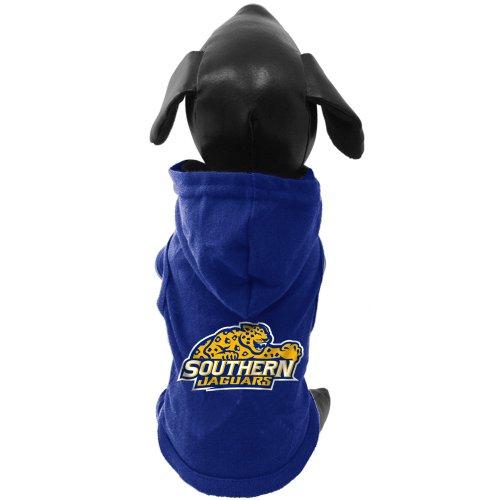 NCAA Southern Jaguars Baumwolle Lycra mit Kapuze Hund Shirt, Tiny