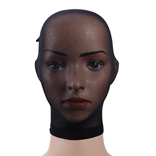 (BESTOYARD Strümpfe Kopfbedeckungen Strumpfhosen Maske Schwarz Atmungsaktiv Unisex Kopf Transparent Strümpfe Maske Gesicht Abdeckung Maske für Erwachsene Party Cosplay (Schwarz))