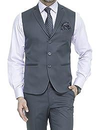 d791c72e25d ManQ Men s Single Breast Three Button Slim Fit Formal Party Waist Coat