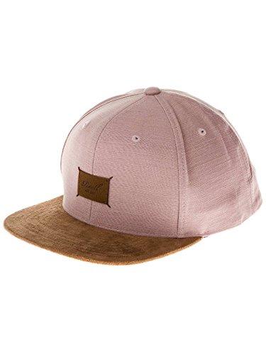 Herren Kappe REELL Suede Cap, greyish pink slub, One Size