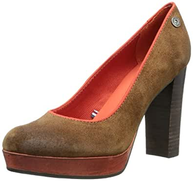 Hilfiger Denim PENELOPE 2B EN56816221, Damen Pumps, Braun (COGNAC/RED CLAY 606), EU 36