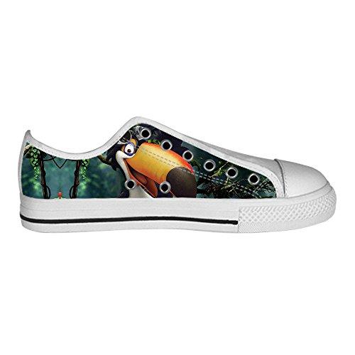 Dalliy Toucan Bird Cartoon Women's Canvas Shoes Lace-up High-top Footwear Sneakers Chaussures de toile Baskets E