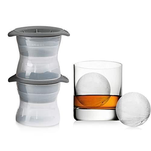 XdremYU Küche Handwerk Schimmel DIY 2 Stücke Leckfrei Enge Dichtung Silikon Getränke Eis Kugel Ball Mold Maker Utensil Set für küche bar männer party - Silikon-eis-kugel-schimmel