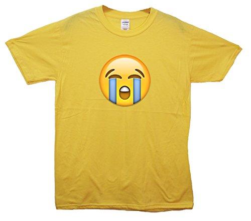 Loudly Crying Face Emoji T-Shirt Gelb