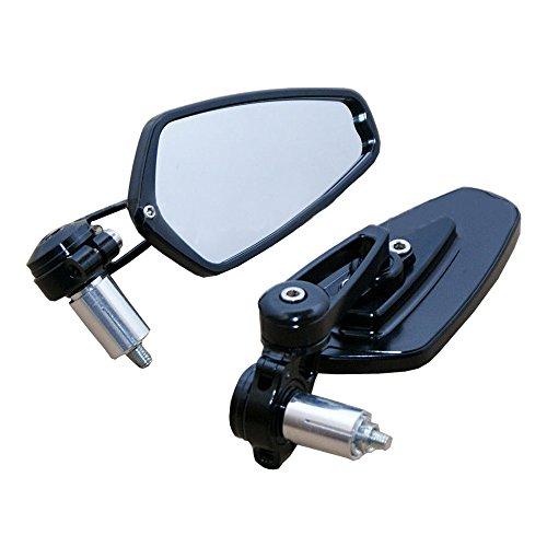 Flyelf 2 x R/étroviseur Miroir Universel pour Moto Street Bike Sport Bike Scooter 8mm//10mm