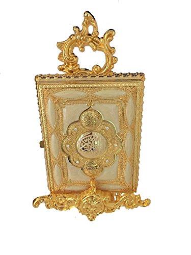 Silber und Gold Koran Box Cover mit Aufsteller Geschenk Dekoration Hochzeit Islamische Kunst gold