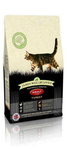 James Wellbeloved Turkey and Rice Dry Adult Cat Food - 10 kg