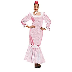 My Other Me Me Me - Disfraz de madrileña/chulapa para mujer, talla XL, color blanco (Viving Costumes MOM02328)