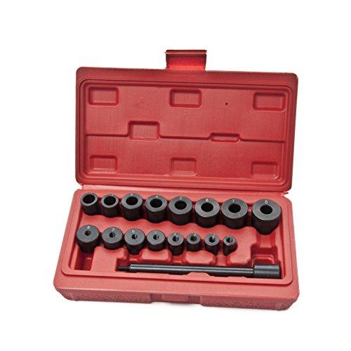 KFZTEILESCHNELLVERSAND24 Universal Kupplung Zentriersatz Werkzeug Zentrierdorn Zentrierwerkzeug KFZ 17tlg -