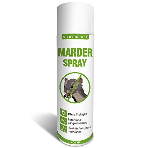 Silberkraft Marderspray 400 ml, Marderabwehr für Auto und Dachboden, Marderschutz für Abwehr und Vorbeugung von Mardern, Marder Spray als wirksame Alternative zu Marderschreck & Marderfalle