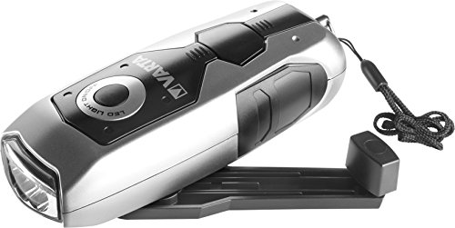 VARTA LED Dynamo Light (3x 5 mm, mit Handkurbel Taschenlampe Flashlight Handlampe Leuchte, mit Kurbel - 100{077e5e0f3ace183475162a1b1e985ce29e8d7e838fbb76b340a90c35138f232d} batterieunabhängig - geeignet für Auto, Garage, Notfall, Stromausfall, Camping, Outdoor)