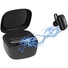 DACOM Mini portátil Bluetooth inalámbrico auricular con base de carga, 380 mAh, aislamiento del