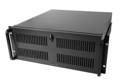 Codegen 1U 650-mm-tiefes 19-Inch-Rackmount-Gehäuse für Server, schwarz/silber schwarz schwarz 4U 500MM
