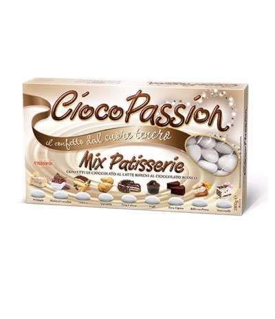 Crispo confetti cioco passion mix patisserie - colore bianco - 1kg