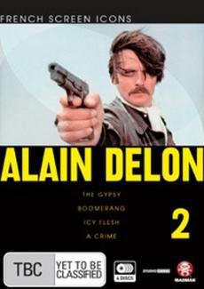 Alain Delon Collection - Vol. Two - 4-DVD Set ( Les seins de glace / Le gitan / Comme un boomerang / Un crime ) ( Icy Flesh / The Gypsy / Boomerang / [ NON-USA FORMAT, PAL, Reg.4 Import - Australia ]