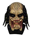 Hengyutoy Mask Alien Skeleton Predator Cosplay Martian Scary Latex Máscara de Halloween