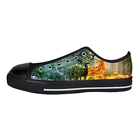Dalliy art deer Men's Canvas Shoes Lace-up High-top Footwear Sneakers Chaussures de toile Baskets