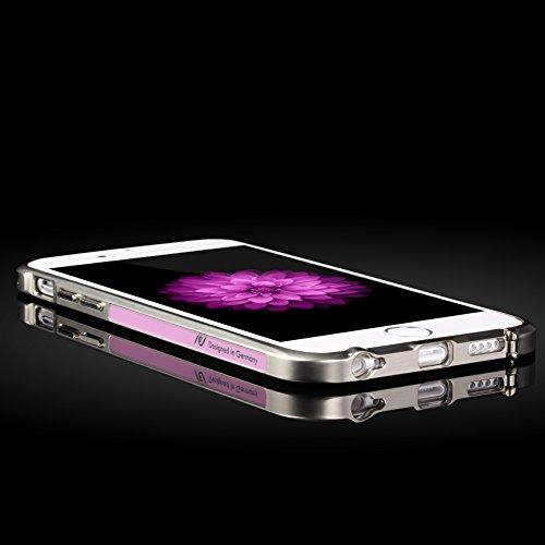Original UrCover® Mirror Spiegel Schutz Hülle Aluminium Bumper für Apple iPhone 6 Plus / 6s Plus (5.5 Zoll) Zubehör Hülle Etui Spiegelhülle Case Cover Alu Cover Meta [deutscher FACHHANDEL]l Rosa Rosa