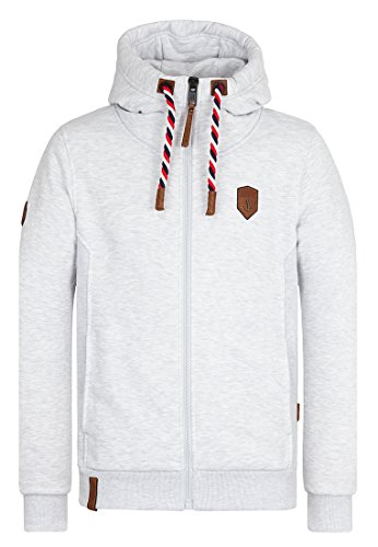 Naketano Male Zipped Jacket Birol Jeck VI Amazing grey melange
