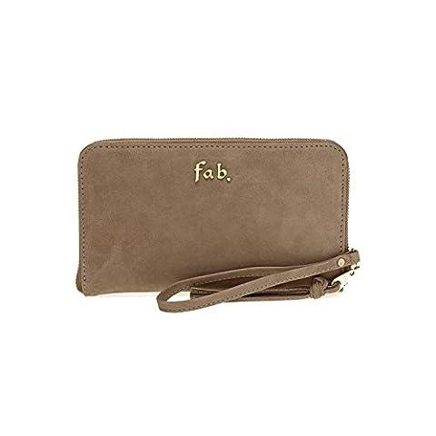 Fab by Fabienne Women's 3 letter logo purse Baguette Handbag Beige NB avocado