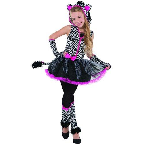 Amscan New Kids Sassy Streifen Mädchen Kostüm Teens Party ()