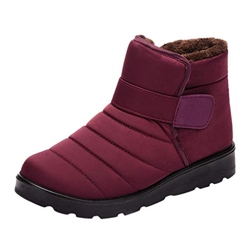 Damen Schneeschuhe sowie dicke wasserdichte warme Baumwollschuhe mit kurzen Stiefeln