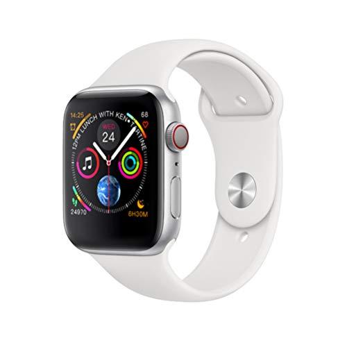 ZLOPV Fitness Armband 1,54 Zoll IPS Wireless Charging Smart Watch Herzfrequenz-Monitor Bluetooth Control Tracer Intelligent für Android Ios, Weiß Aktuelle Tracer