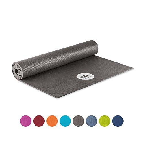 Lotuscrafts Yogamatte Mudra Studio - für Anfänger und Fortgeschrittene, schadstoffgeprüft nach OEKO TEX 100 - Matte für Yoga, Pilates, Sport und Training -Grau (Anthracit)